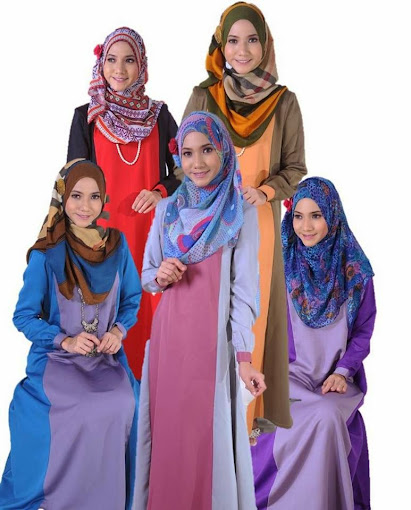 Jubah Muslimah Online Terkini 2014 untuk raya
