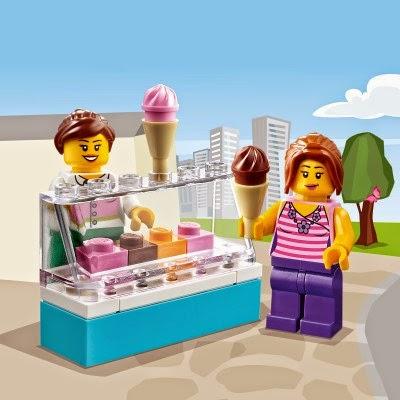 Lego Juniors 10684 Vali siêu thị Supermarket Suitcase bao gồm 2 nhân vật