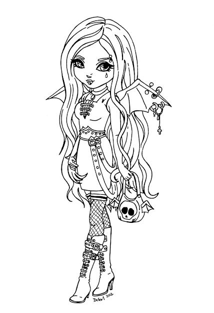 Gothic Bat By Jadedragonne Watch Manga Anime Traditional Media
