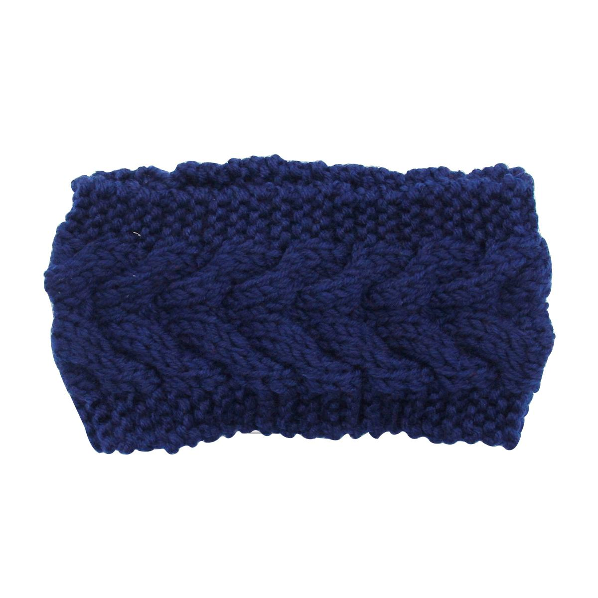 winter stirnband gestrickt warm haarband damen blumen. Black Bedroom Furniture Sets. Home Design Ideas