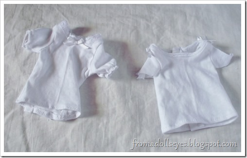 Doll Owner's Corner: Sewng for Dolls: Difference in Constructing Things Like T-shirts