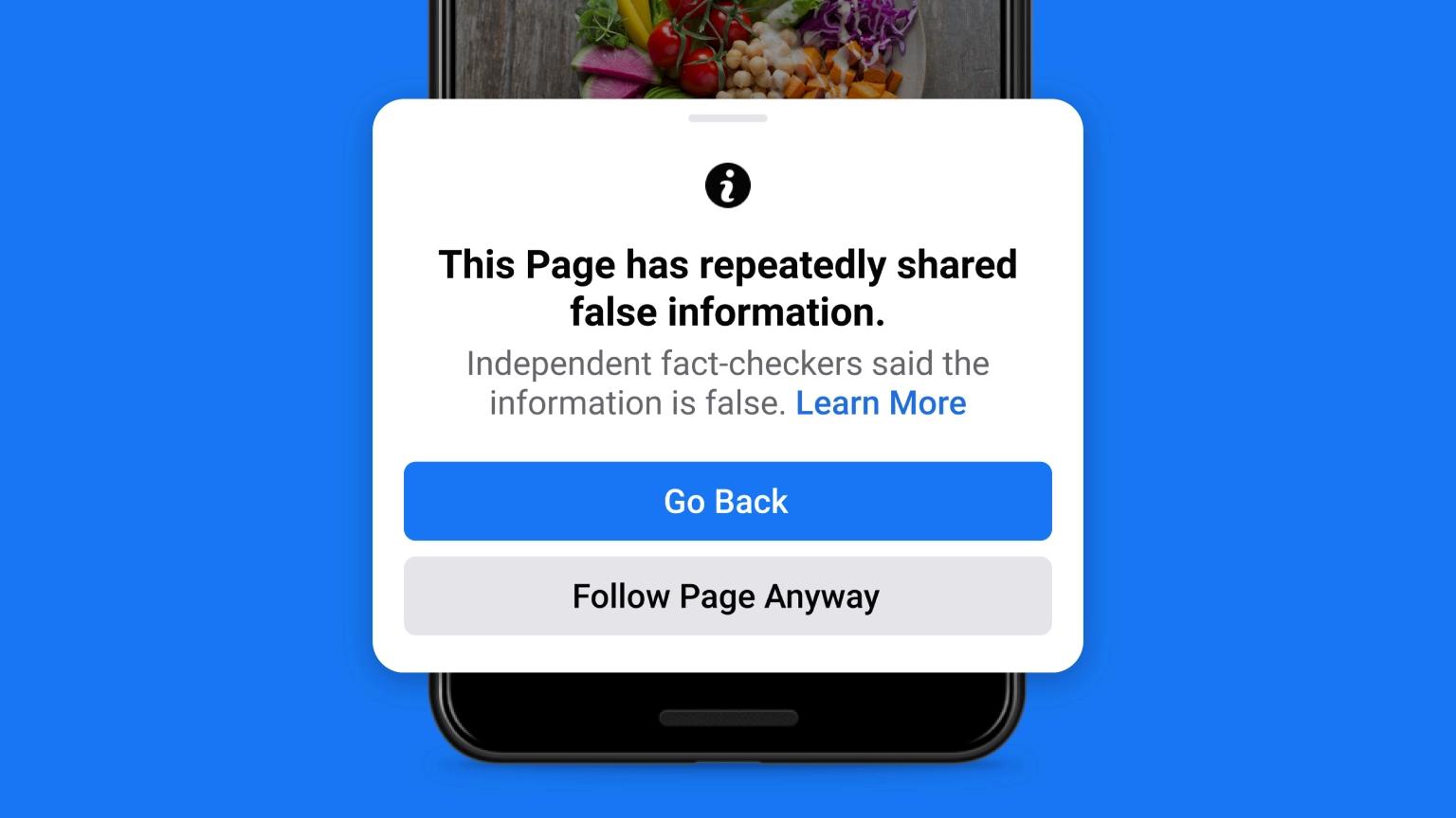 Nuove misure di Facebook contro pagine e profili che condividono Fake News
