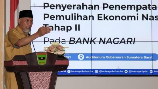 Bank Nagari Dapatkan Penempatan II Dana Pemulihan Ekonomi Nasional (PEN)