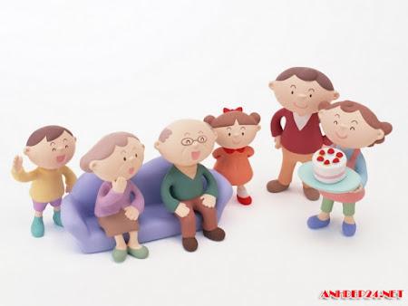 17 Hình ảnh gia đình hạnh phúc hoạt hình dễ thương