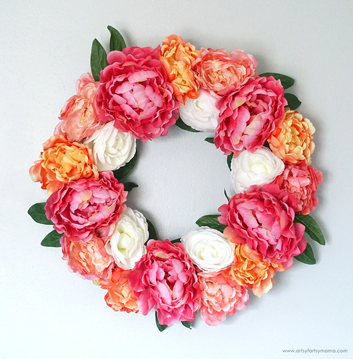 DIY Summer Peony Wreath