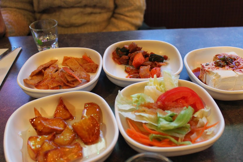Side dishes at Paldo Gangsan