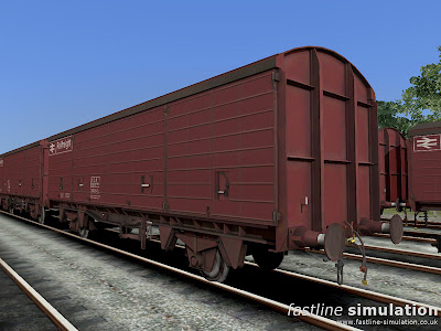 Fastline Simulation: lot 3855 VDA van for RailWorks in slightly grubby maroon livery.