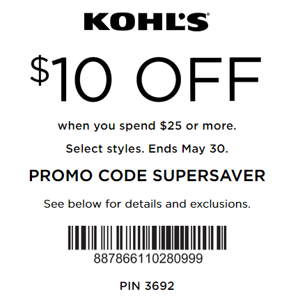 Kohl's coupon $10 off $25 purchase