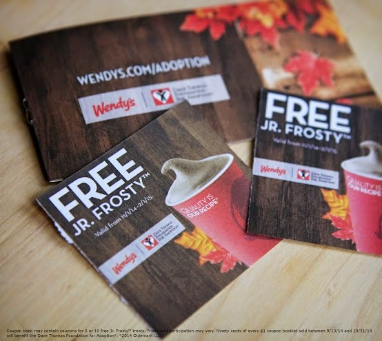 Wendy's Jr. Frosty Halloween Coupon Book #Frosty4Adoption