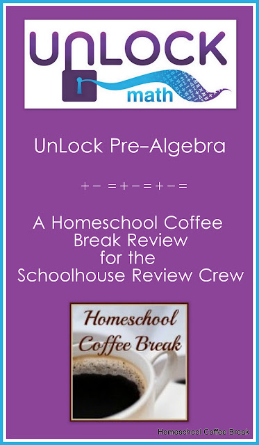 UnLock Pre-Algebra (Schoolhouse Crew Review) on Homeschool Coffee Break @kympossibleblog.blogspot.com #math