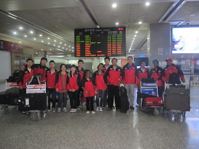 Mahasiswa Shenyang Aerospace University dari Indonesia tiba di Airport bersama BLCI