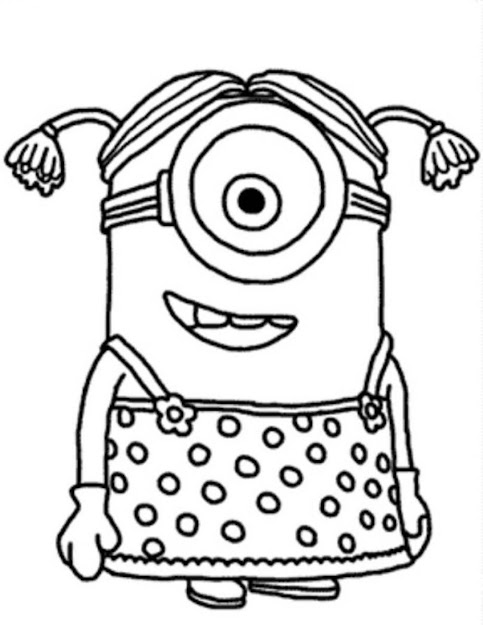 Minion Girl Despicable Me Coloring Pages Photos Cartoon At Becoloring