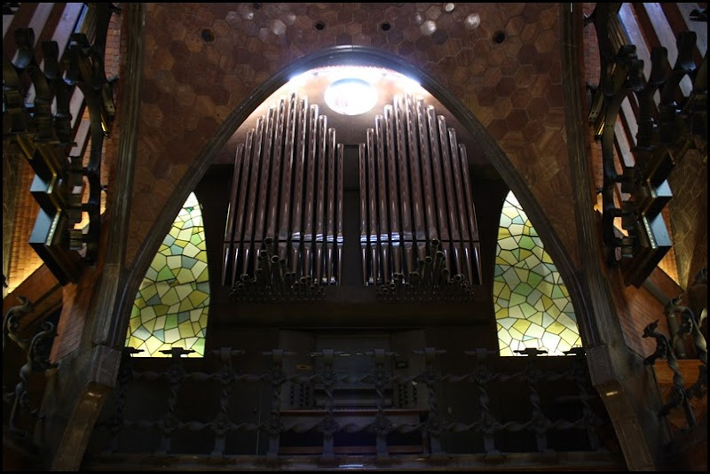 Pipe Organ in Antonio Gaudi's Palau Guell