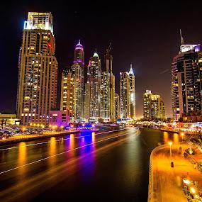 Dubai Marina by Marlon Diwata - Landscapes Travel