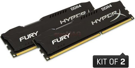 Kingston Hyper X Fury Black DDR4 KITx2 Configuraţie PC Gaming, sub 1000 Euro