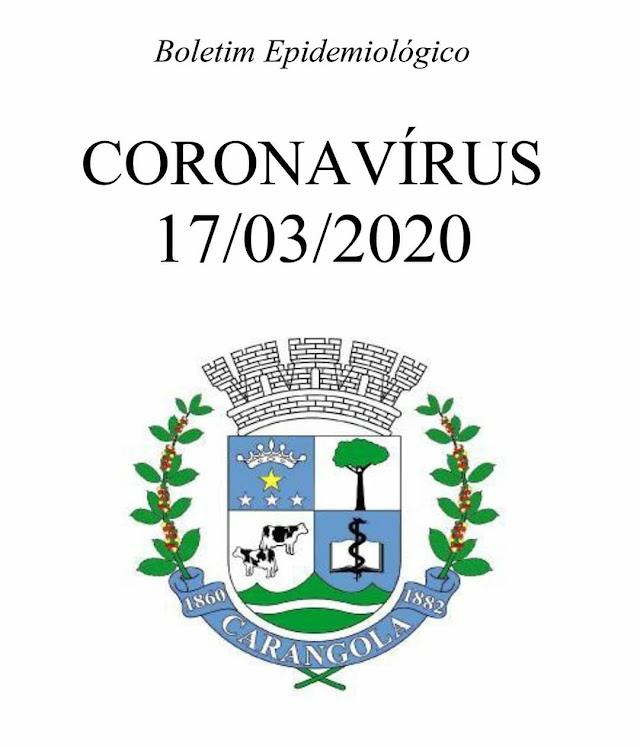 Boletim Informativo Prefeitura Municipal de CARANGOLA sobre o caso suspeito de Coronavírus no município