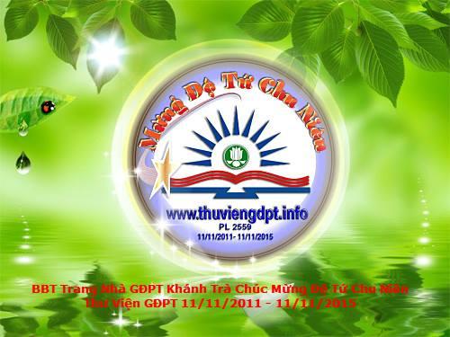 Trang bạn GĐPT Khánh Trà chúc mừng Đệ Tứ Chu Niên Thư Viện GĐPT