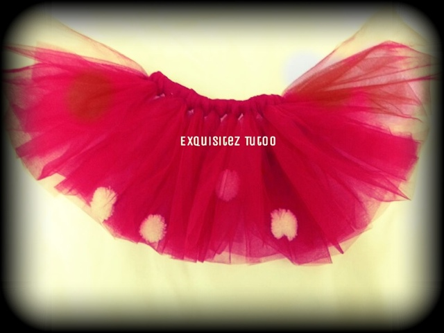 ExquiSite Red Tutu Skirt Minnie Mouse Little Riding Hood