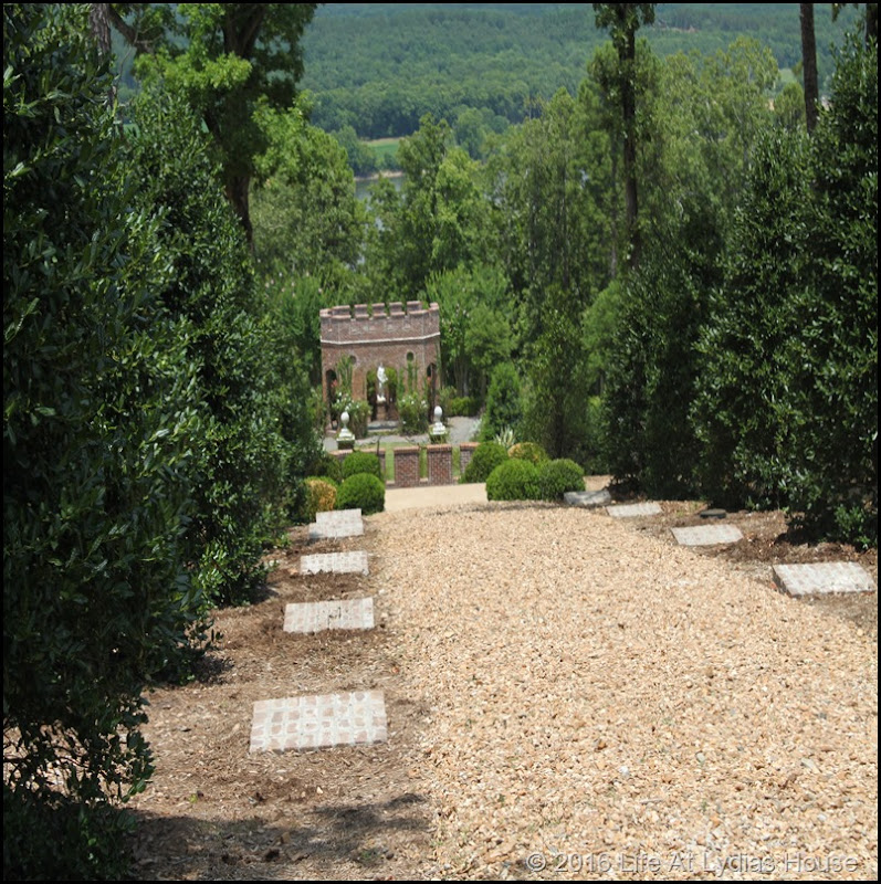 path from the vegetable garden to the rose garden