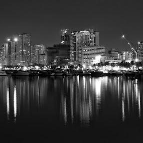 City at night by Jon Gonzales - City,  Street & Park  Vistas