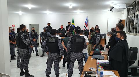 """Os 3 acusados pelo assassinato de José Almir Mendonça """"Branco"""" são condenados nesta terça (29) em Esperantinópolis"""