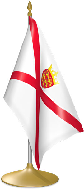 Channel Island table flags - desk flags