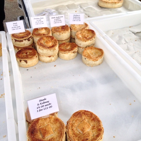 Twickenham Farmers' Market - Ye Olde Pie Emporium…big chunky pies with all sorts of fillings, pasties and sausage rolls