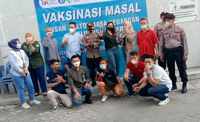 Hari Kedua Vaksinasi Massal Tahap I Bank BNI Tebing Tebing Berjalan Aman dan Lancar
