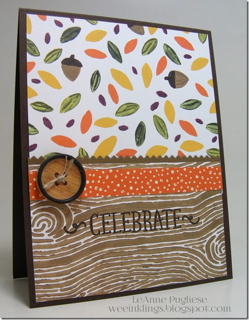 LeAnne Pugliese WeeInklings Fall Birthday Paper Pumpkin Stampin Up