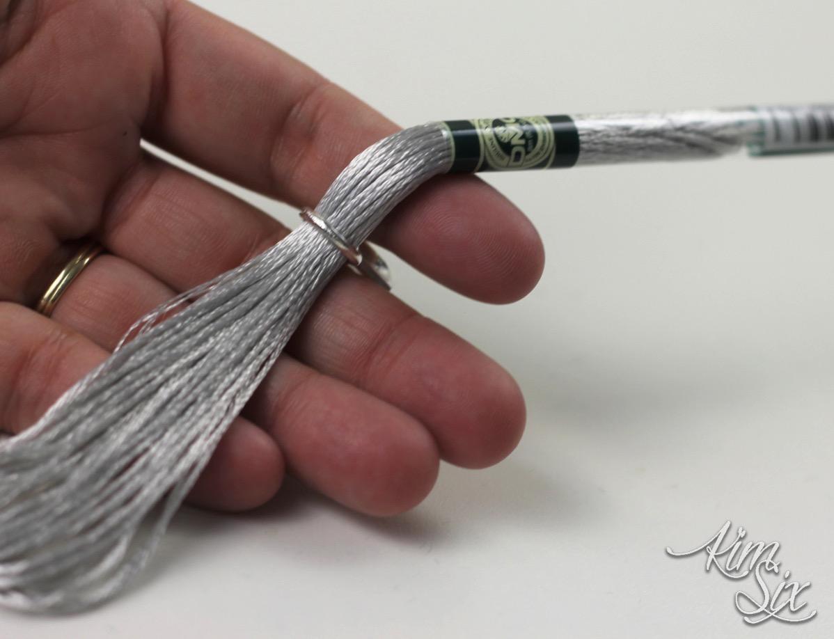 Metallic embroidery floss tassels