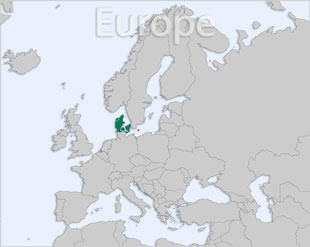 Denmark location map