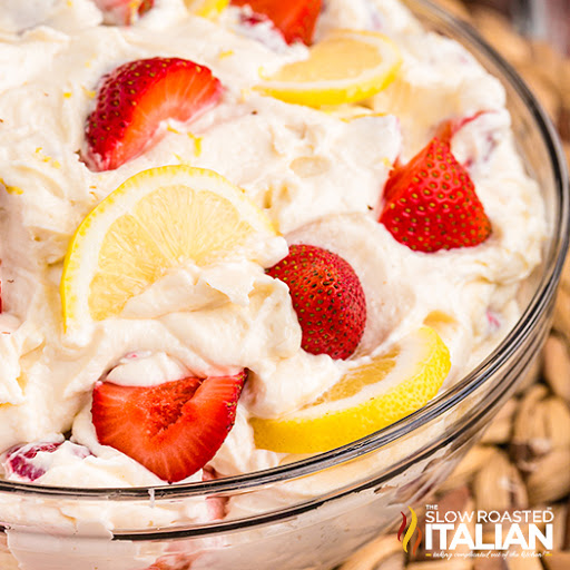 Strawberry Lemonade Cheesecake Salad