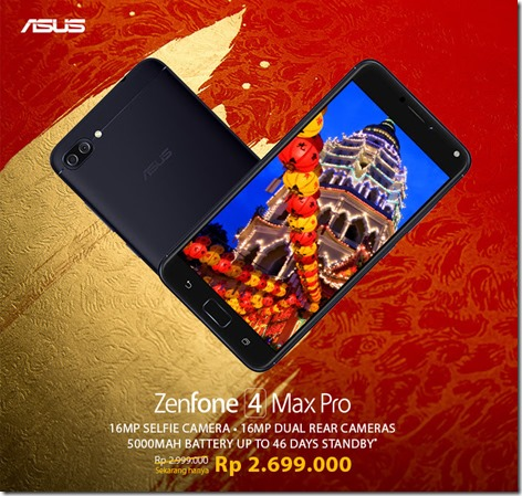 Harga Asus Zenfone 4 Max Pro Turun! Sekarang Cuma Segini…