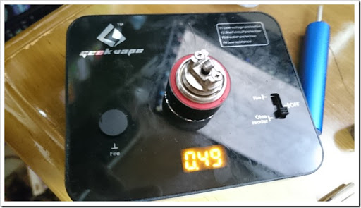 DSC 0834 thumb%25255B3%25255D - 偽TOPTANK(トップフィル)とチタンコイル(VTC Mini)で温度管理を楽しむ