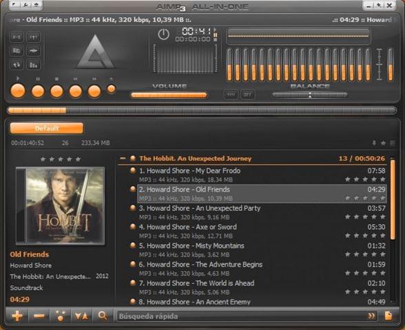 برنامج تشغيل الملفات الصوتية والموسيقى AIMP v4.02.1713 بورتابل