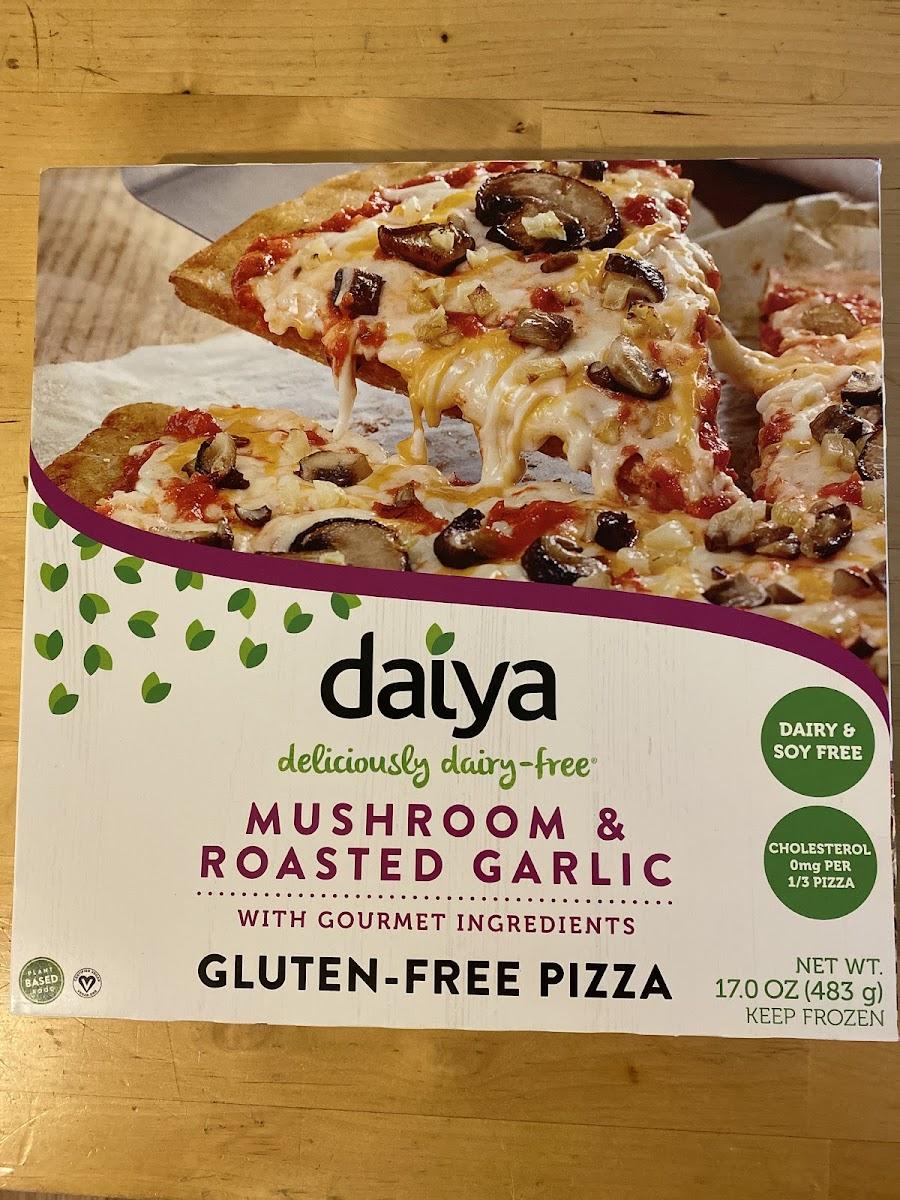 Mushroom & Roasted Garlic Gluten-Free Pizza