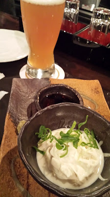 Kyoto's Yuba Soy Milk Skin - at Beer Komachi. I really liked this dish, and it goes really well with beer