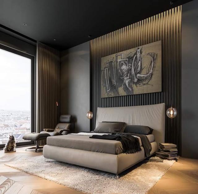 9 Contoh Interior Bercorak Gelap Terbaik