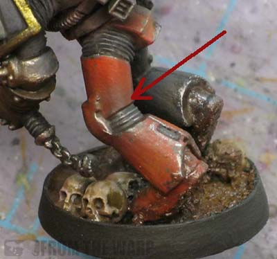 metallic weathering powders over armour plates