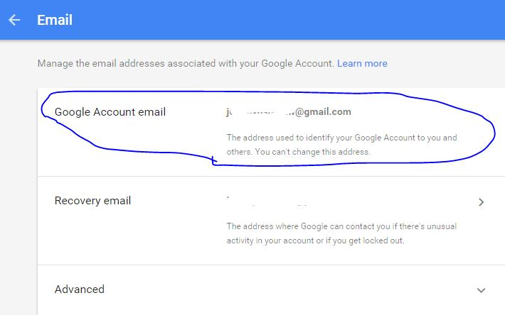 how to change primary email on google