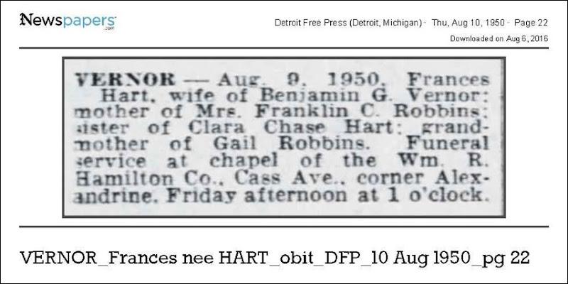 VERNOR_Frances_nee_HART_obit_DFP_10_Aug_1950_pg_22
