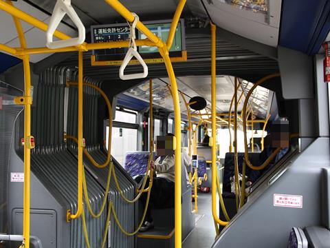 京成バス「新都心幕張線用連節バス」 4826 千葉ロッテマリーンズラッピング車 車内 その1