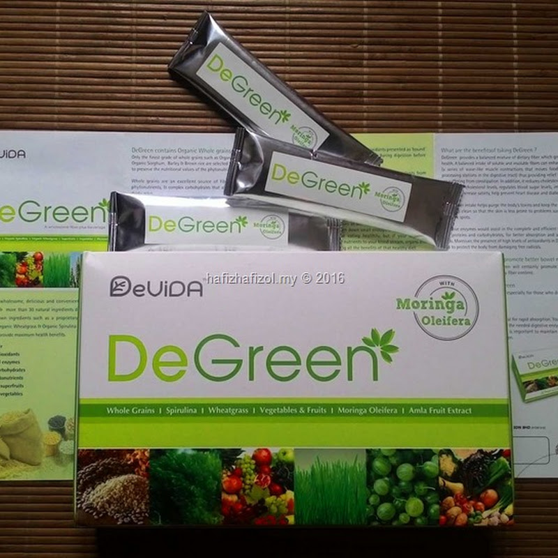 DeGreen with Moringa Oleifera-Makanan Bijirin Tersedia Anda!