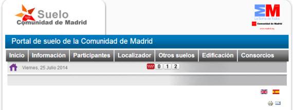 Nuevo Portal web de Suelo de la Comunidad de Madrid