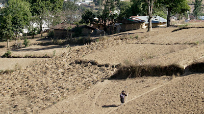 Women on hillside near neighboring town, Sienna Project 2011 Guatemala trip to help build school in Palanquix, Solala, Guatemala. Photos by TOM HART