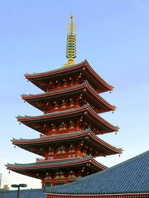 Five Storied Pagoda in Sensoji Temple, Asakusa