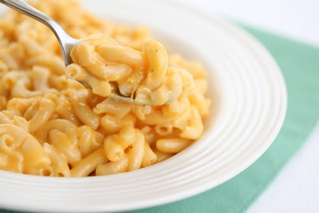 close-up photo of a spoonful of macaroni and cheese