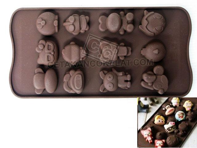 cetakan coklat cokelat silikon karakter kartun doraemon minnie astroboy astro hello kitty ultraman SIL049 SIL49