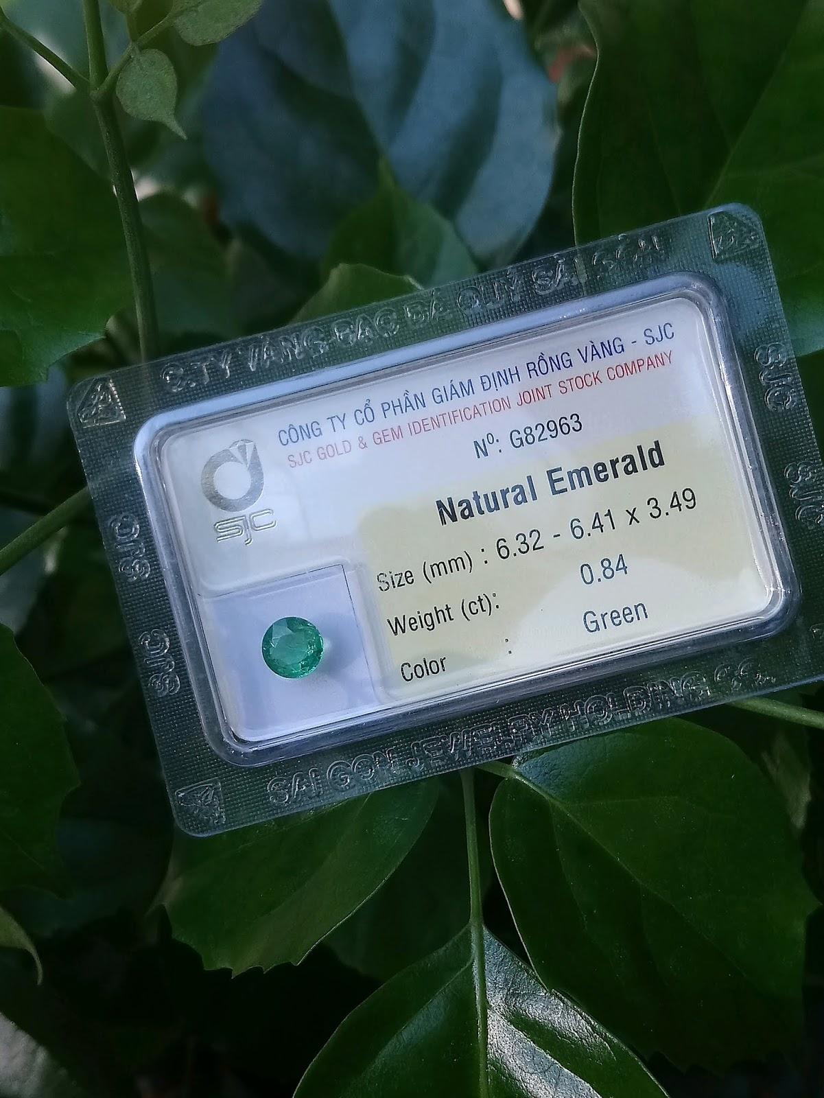 Đá quý Ngọc Lục Bảo thiên nhiên, Natural Emerald giác tròn chất ngọc xanh chuẩn ( 11/4/20, 02 )
