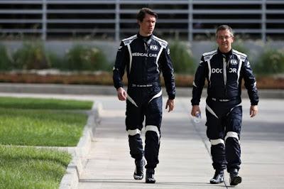 Alan van der Merwe and FIA doctor Ian Robertson